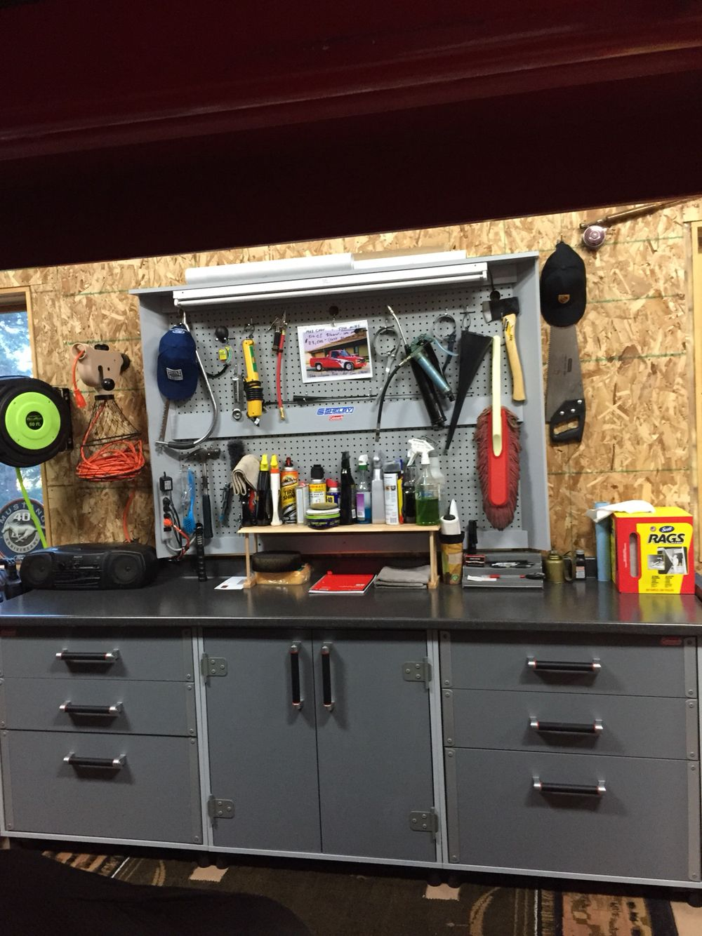 Tuff Duty Coleman Workbench: One 2 Door Base Cabinet, 2 Three Drawer Base  Cabinets