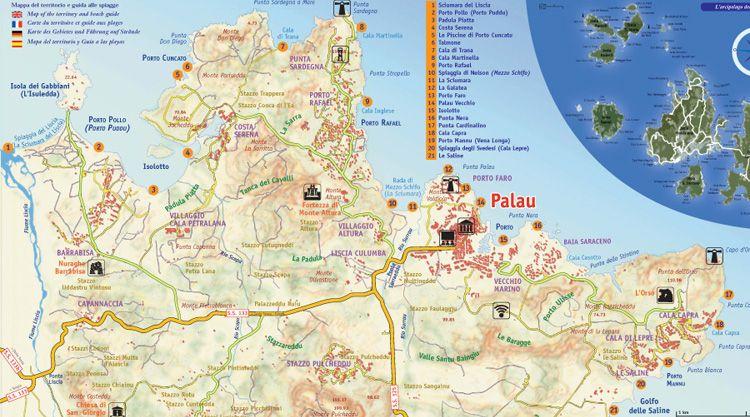 Cartina Spiagge Sardegna Nord.Spiagge Palau Sardegna Scoprile Adesso Con Mappa E Foto Sardegna Spiagge Palau
