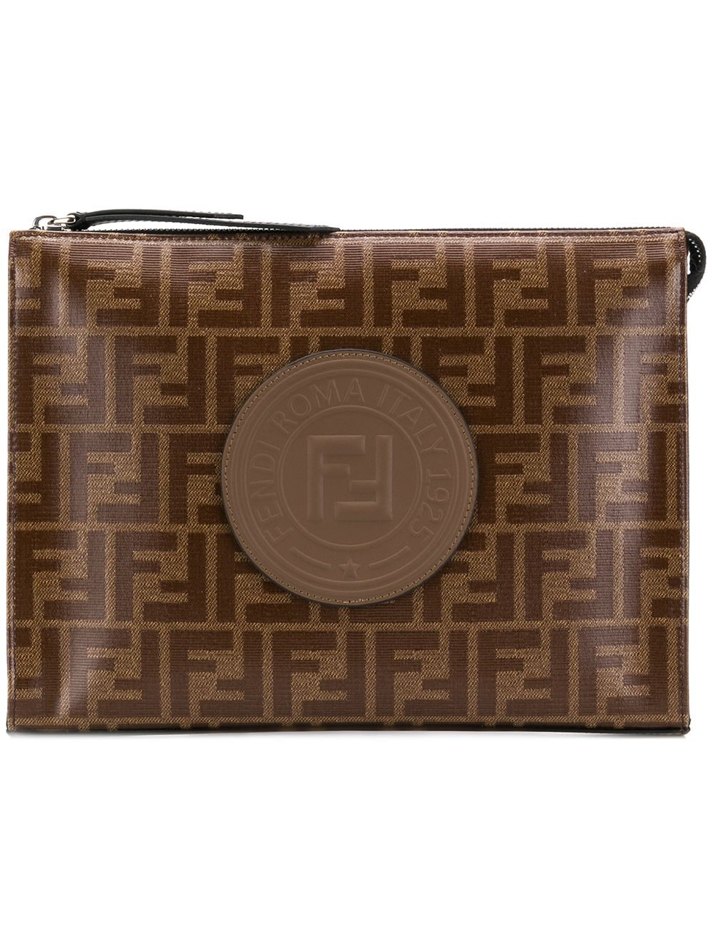 08a65d300923 FENDI FENDI LOGO MONOGRAM CLUTCH BAG.  fendi  bags  leather  clutch  cotton   hand bags