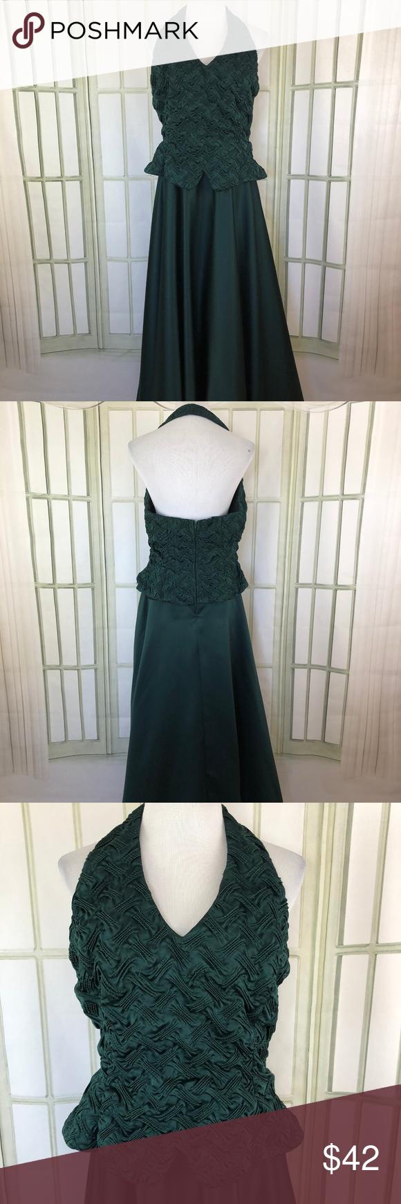 Vintage 1990s Brocade Bodice Halter Prom Dress Halter Prom Dresses Dresses Prom Dresses Vintage [ 1740 x 580 Pixel ]