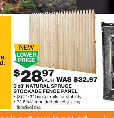 Prices Of Privacy Fence At Home Depot Divide And Conquer Stockade Fence Fence Fence Panels