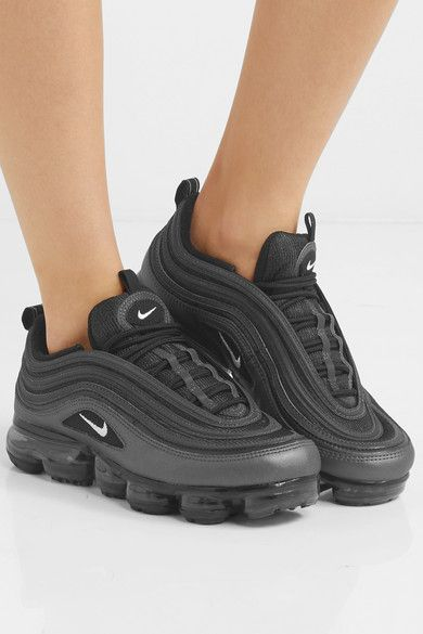 reputable site 90244 5e0b4 Nike   Air VaporMax 97 faux leather and mesh sneakers   NET-A-PORTER.COM
