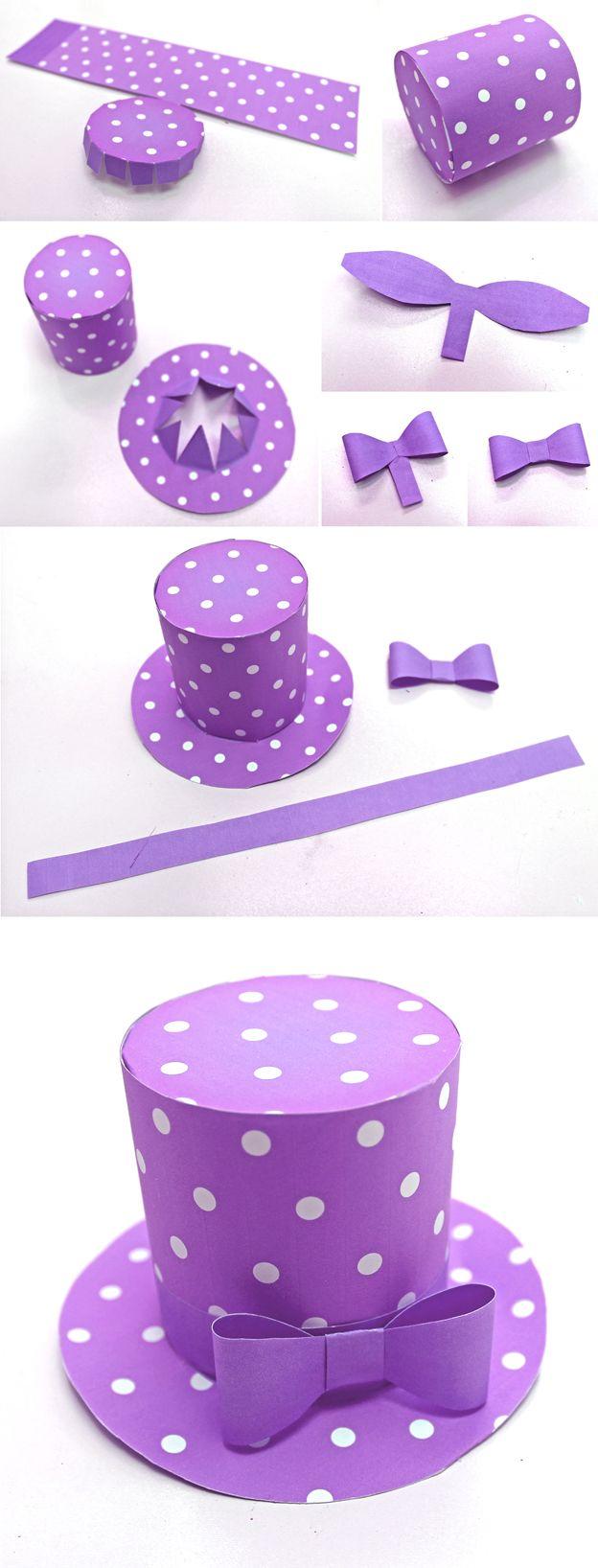 Polka dot mini top hat | Circo, Sombreros locos y Fiestas