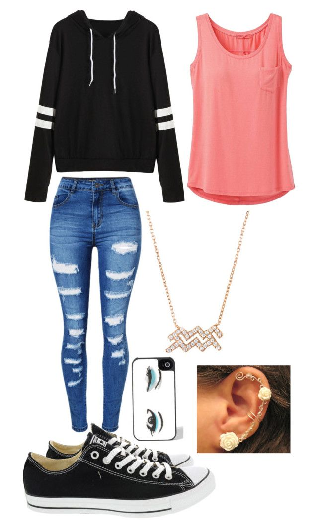 """Untitled #551"" by angelofadorability on Polyvore featuring prAna, WithChic, Converse and Kate Spade"