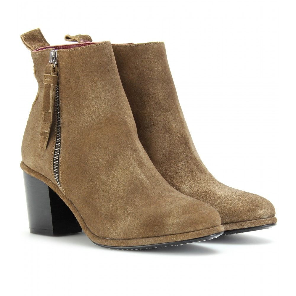 SHIRLEY SUEDE ANKLE BOOTS seen @ www.mytheresa.com
