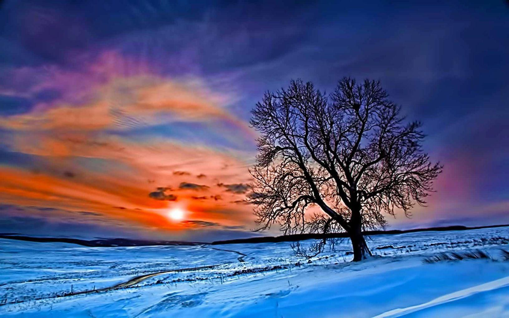 Winter Nature Wallpaper Download Free Pixelstalk Net Winter Sunset Winter Sunrise Winter Nature