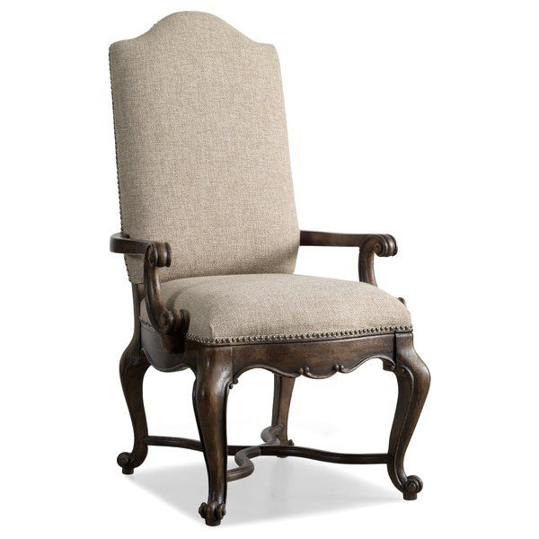 Rhapsody Upholstered Arm Chair In Walnut Upholstered Arm
