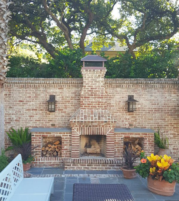 the ultimate outdoor fireplace | Backyard fireplace ... on Brick Outdoor Fireplace Ideas id=83831
