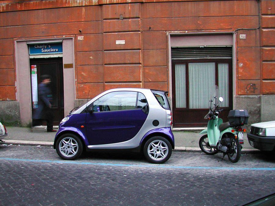 Smart car and moped, Paris, France Car rental, Paris travel