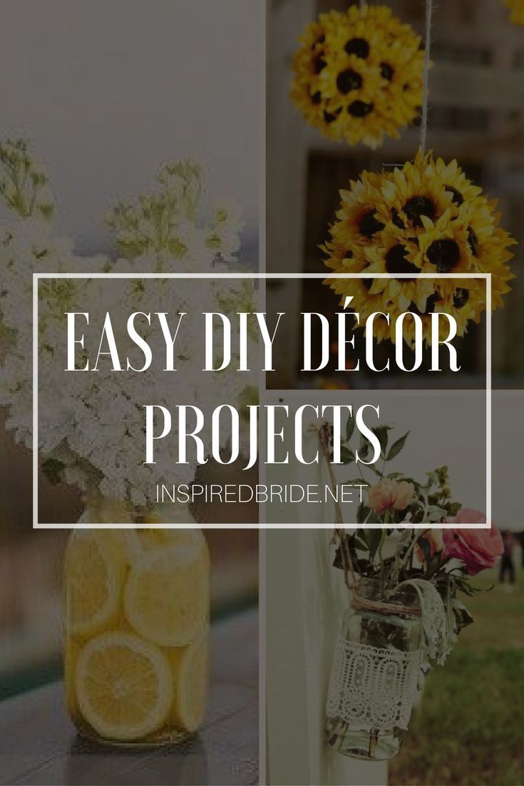 stunning and easy diy décor projects diy wedding weddings and