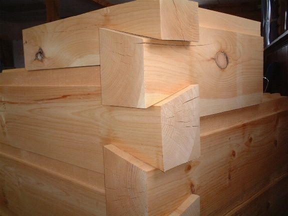 6x12 Chink Joint Logs Planed Smooth Dovetail Corners My