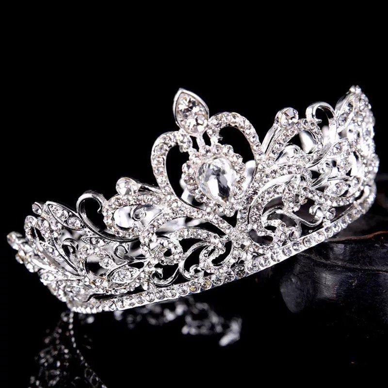 Crown Crystal Rhinestone Tiara Wedding Bridal Headpiece Hair Accessory Headband