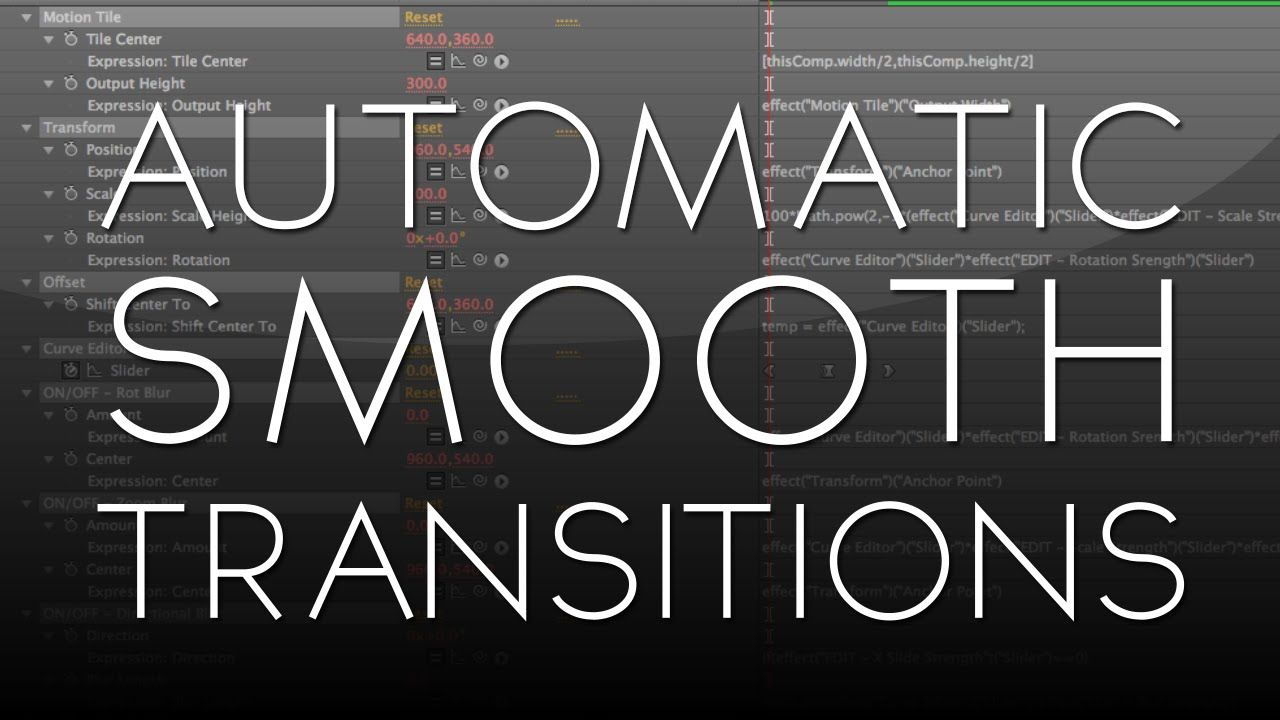 After Effects Tutorial: Automatic Smooth Transitions [FREE