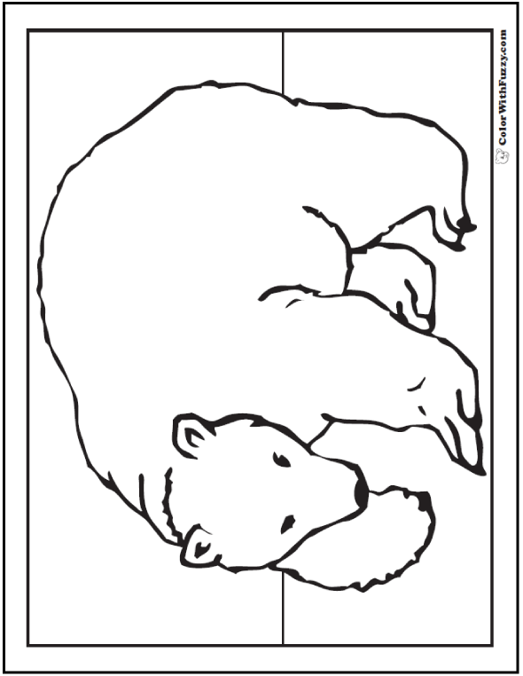 16 Polar Bear Coloring Pages Arctic Giants Cute Babies Polar - Polar-bear-coloring-pages