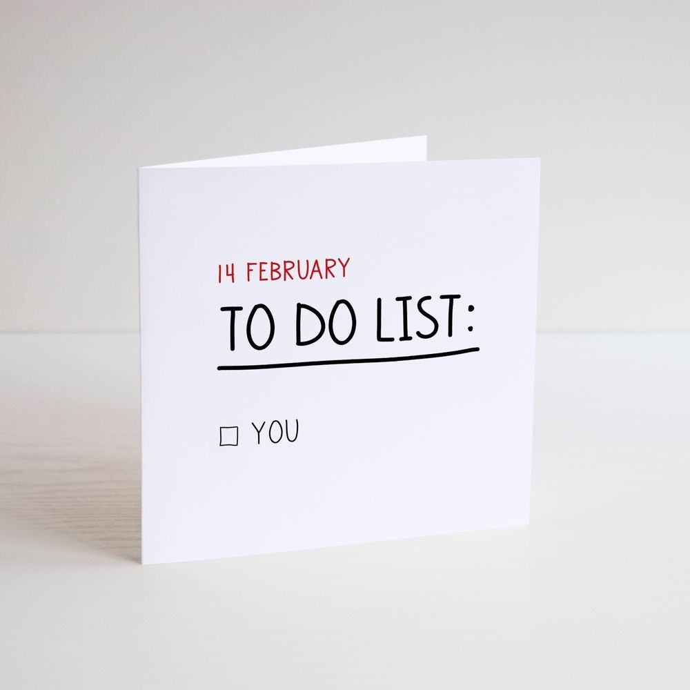 Funny greeting card valentine lover to do list 14 february funny greeting card valentine lover to do list 14 february date dating m4hsunfo