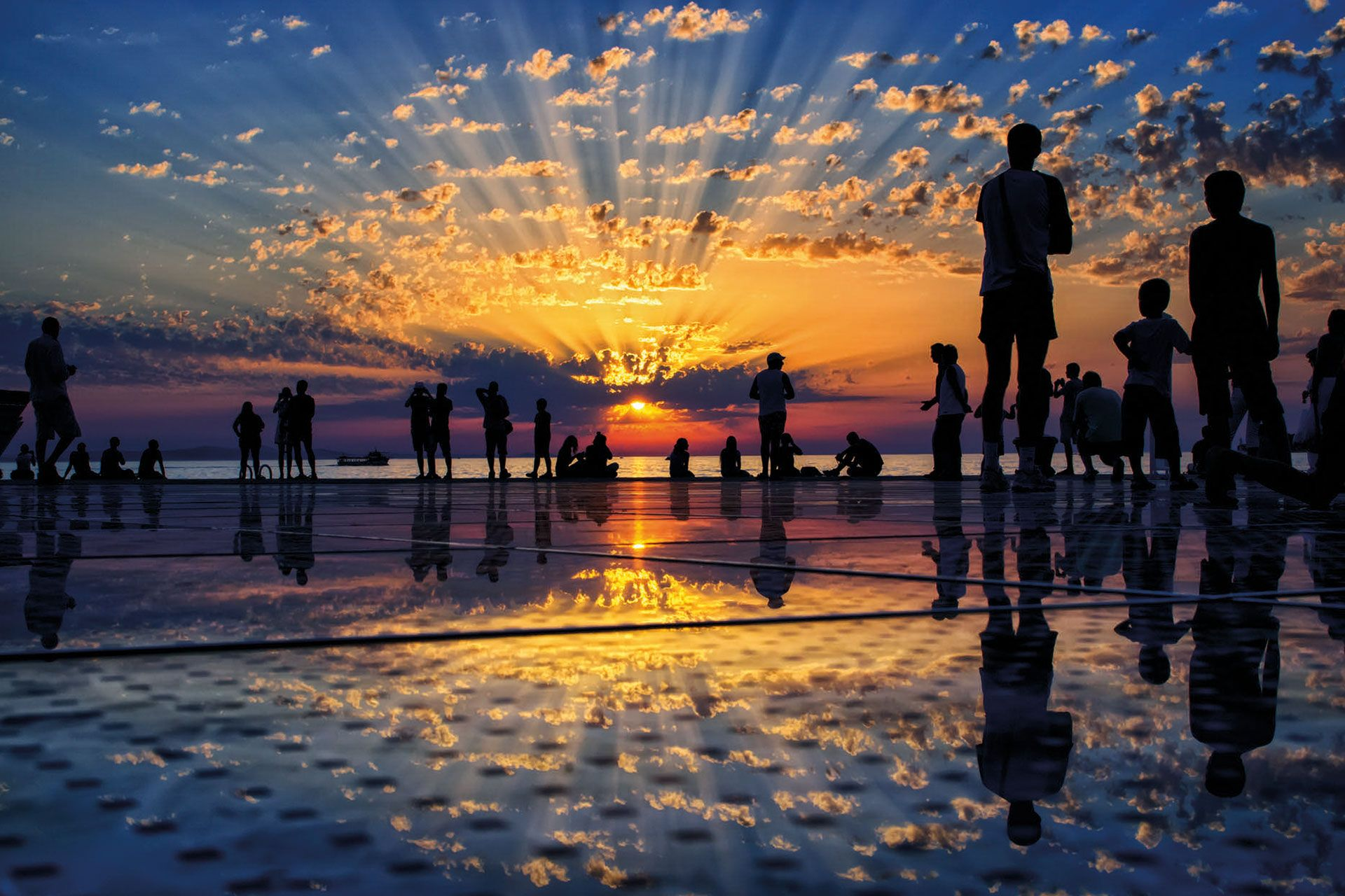 See What Alfred Hitchcock Meant By The Most Beautiful Sunset Zadar Croatia Tourism Zadar Karlovac