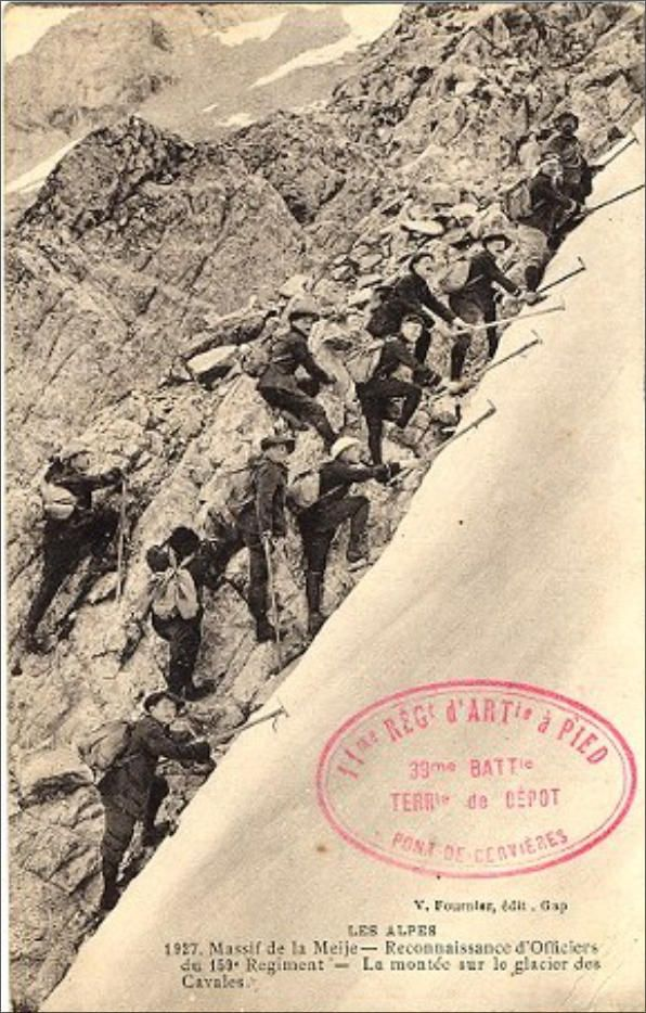 WW1 French postcard, Chasseurs Alpins