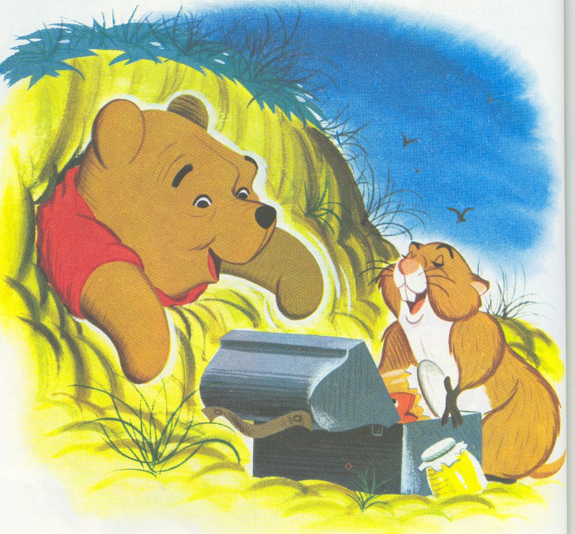 Winnie The Pooh Meets Gopher Gopher Would Share His Lunch Winnie The Pooh Winnie The Pooh Friends Disney Winnie The Pooh