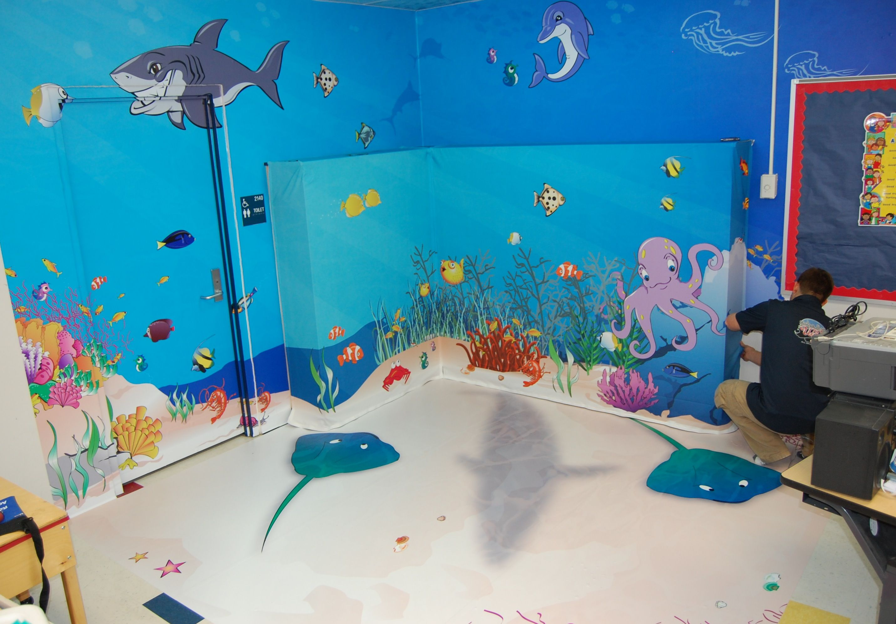 Ocean Decoration For Classroom : Under the sea classroom calming area