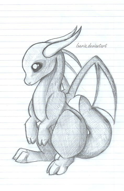 Baby Dragon sketch by Ixeria | Dibujos | Pinterest | Dibujo, Dibujar ...