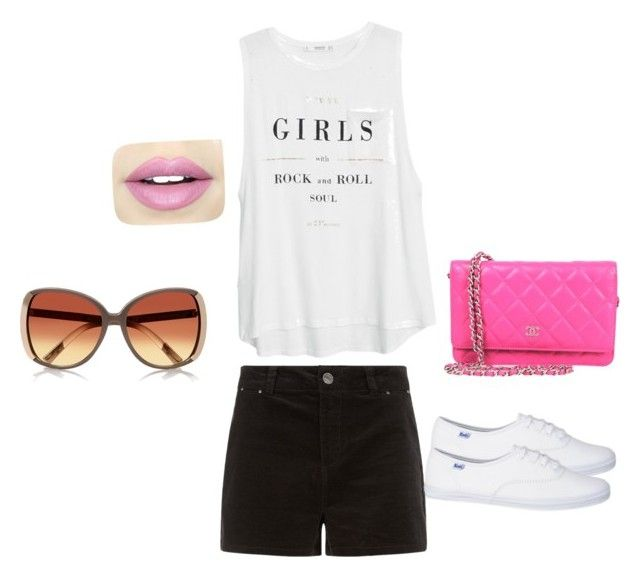 Sin título #8 by divinasiomy on Polyvore featuring polyvore, fashion, style, MANGO, Chanel and Fiebiger