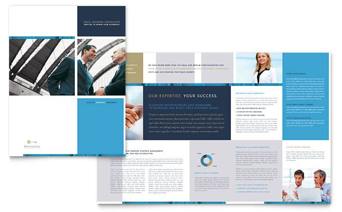 Small Business Consulting Brochure Design Template By StockLayouts   Business  Pamphlet Templates  Business Pamphlet Templates
