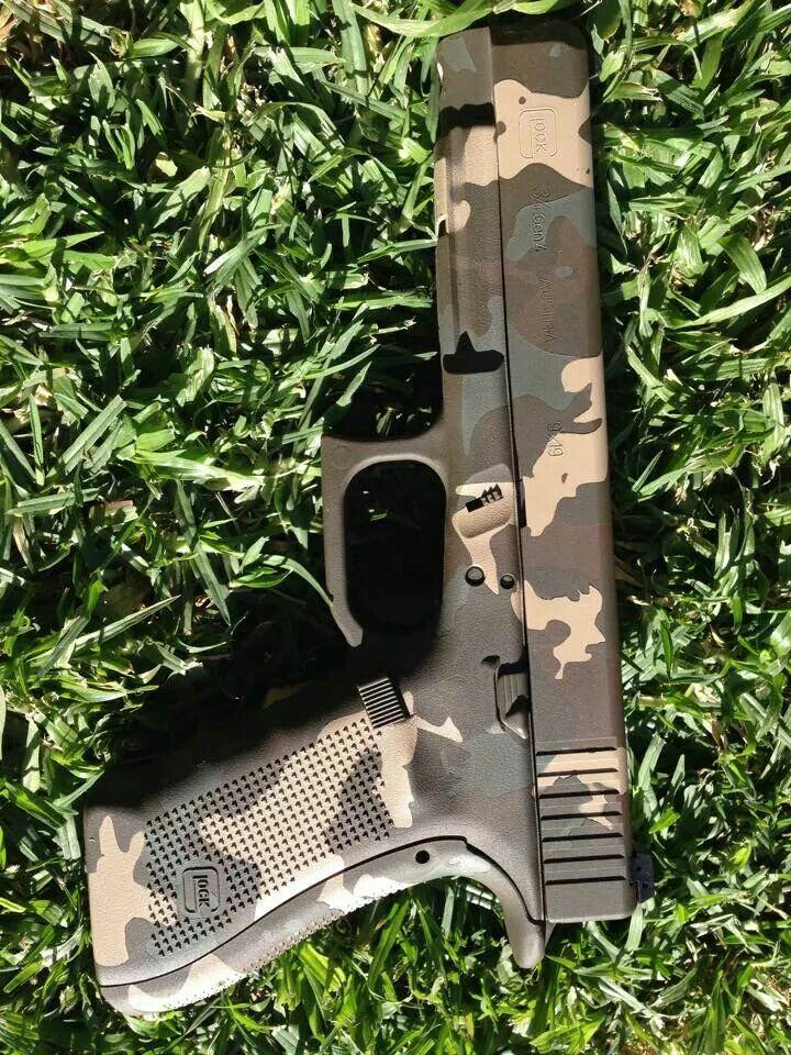 Cerakote South African camo  | Custom Glocks | Guns, Hand guns