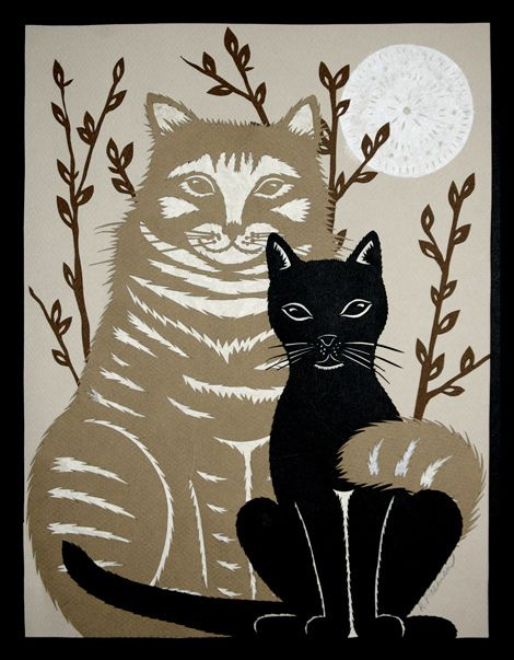 The Odd Couple - Cut Paper Art by ruralpearl, via Flickr