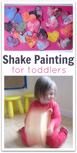 Shake Painting For Toddlers And Other Activities For 2 3 Year Olds
