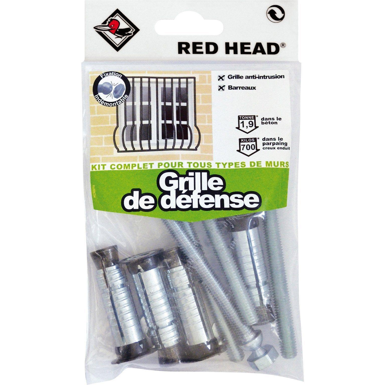 Kit Chevilles A Expansion Grille De Defense Red Head Diam 14 X L 45 Mm Cheville Kit Et Grille