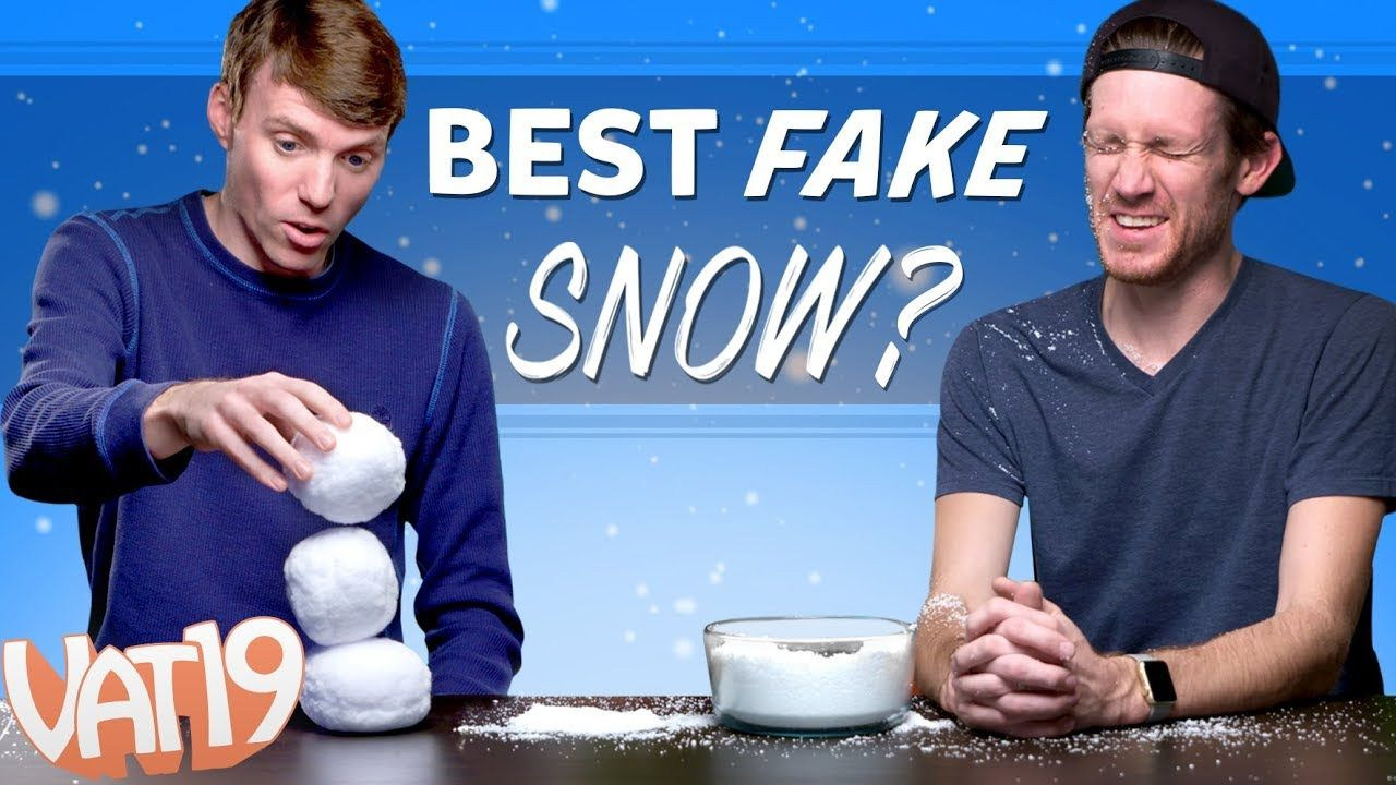 And the best fake snow is youtube funny
