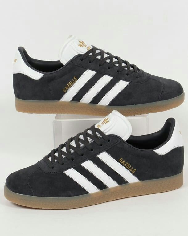 Campo de minas mago Estresante  New Gazelle colourway - Night Grey/White/Gum | Adidas gazelle, Adidas shoes  originals, Adidas