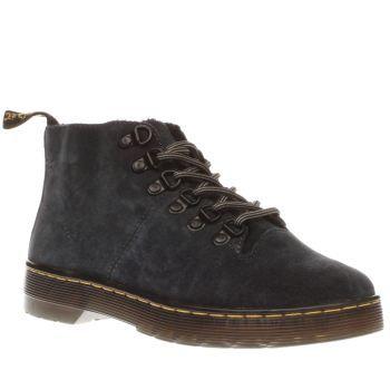 womens dark grey dr martens lahava 6 eye lined chukka boots