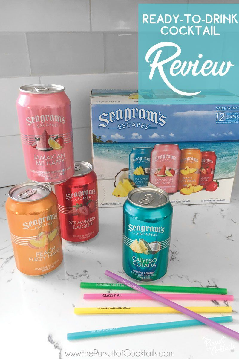 Canned Cocktail Review Seagram S Escapes Cocktails Cocktail Drinks Fun Drinks