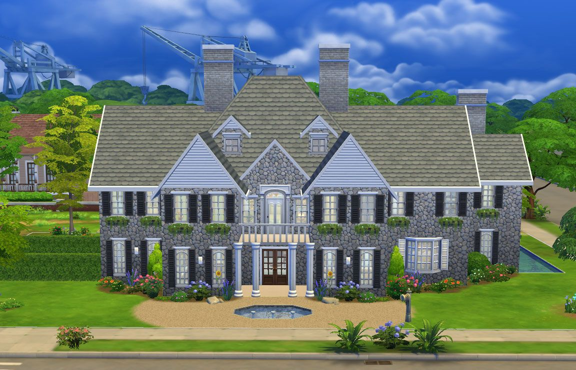 The sims 4 stepford mansion the sims 4 houses for Mansion house plans with elevators