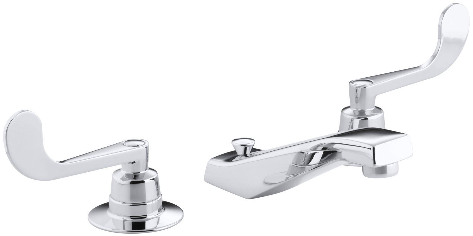 Kohler K-7471-K Triton Widespread Bathroom Faucet Less Handles - Free Metal Pop- Polished Chrome Faucet Lavatory Double Handle