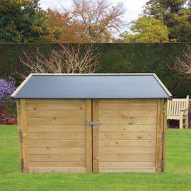 Coffre de jardin en bois multifonctions 1200L - Chalet et Jardin ...