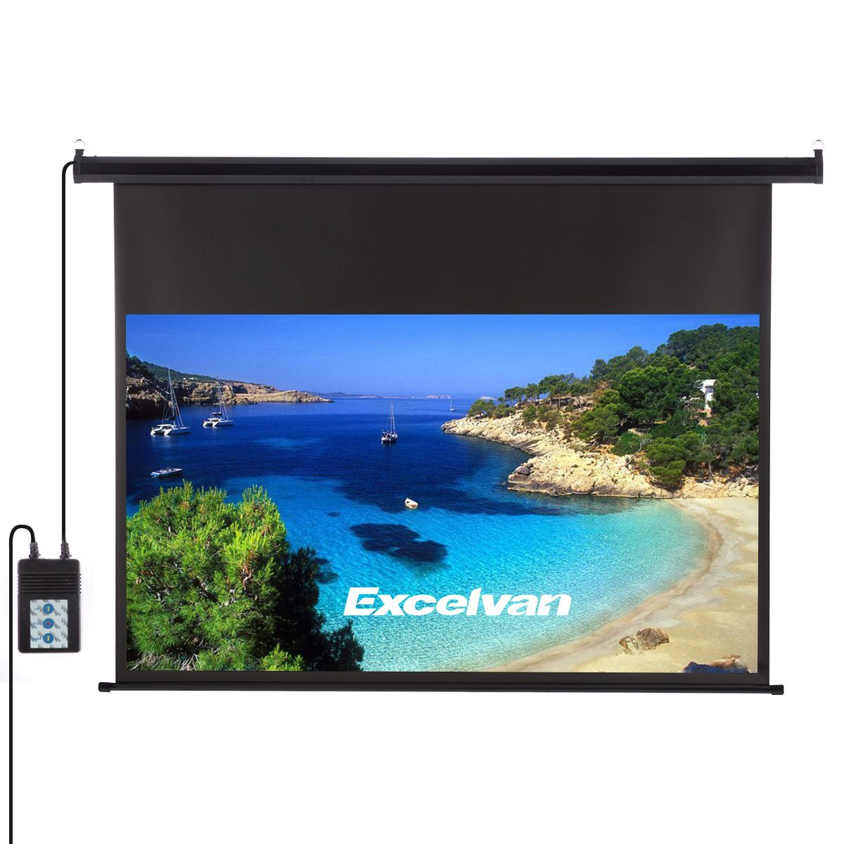 Excelvan 120 Inch 16 9 1 2 Gain Wall Ceiling Electric Motorized Hd Projector Screen With Remote Co Outdoor Projector Screens Outdoor Projector Projector Screen