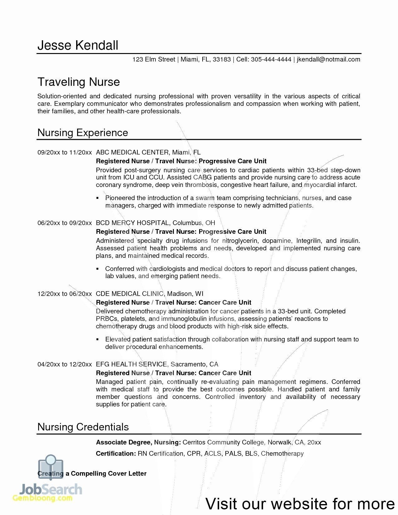 resume design template free in 2020 Registered nurse