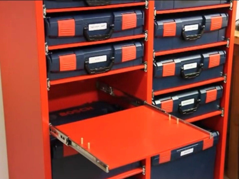 slide out shelves l boxx pinterest bricoleur du dimanche atelier et abris de jardin. Black Bedroom Furniture Sets. Home Design Ideas