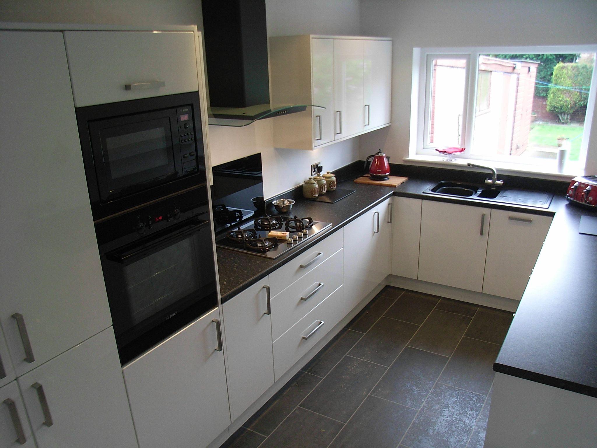 Kitchen Black Kitchen Countertops White Kitchen Units Black Appliances Kitchen