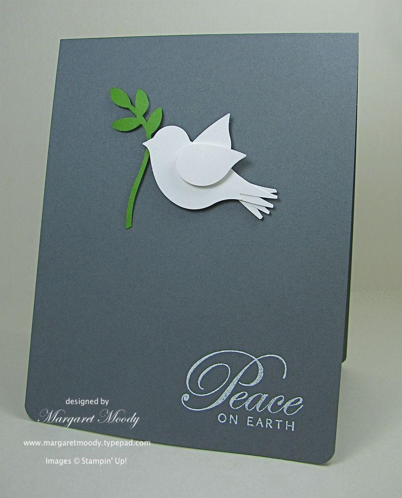 handmade Christmas card ... clean and simple .... slate ...