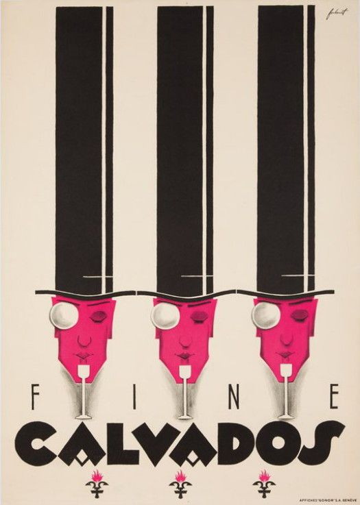 publicité pour le Calvados | Poster retro, Affiche