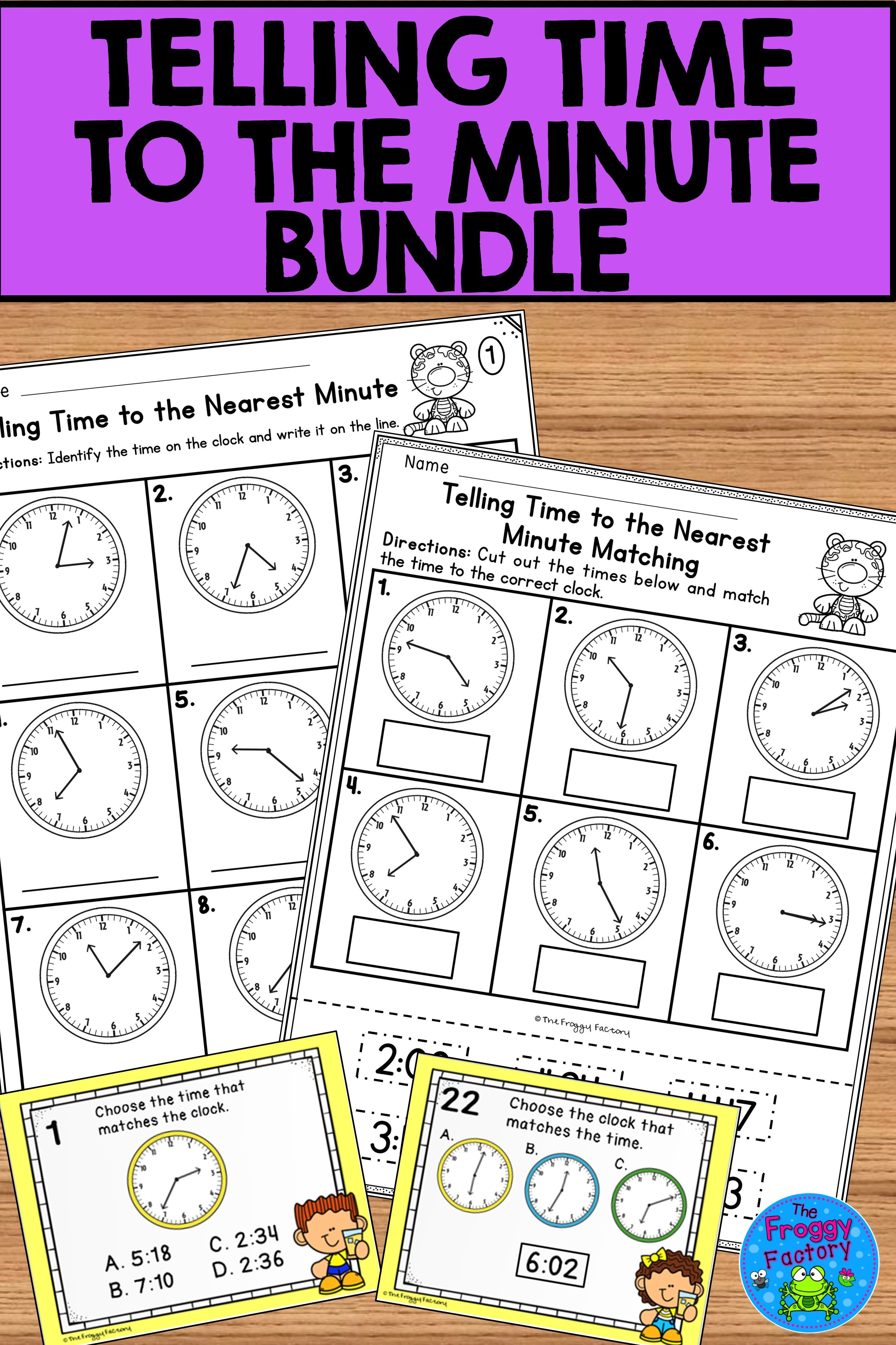 Telling Time To The Minute Bundle