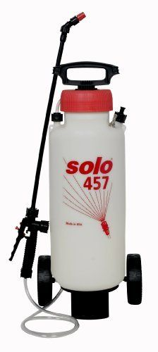 Solo 457 3 Gallon Rollabaout High Pressure Handheld Sprayer By Solo 62 95 Viton Seals Provide Greater Chemical Resis Sprayers Heavy Duty Wheels Working Area