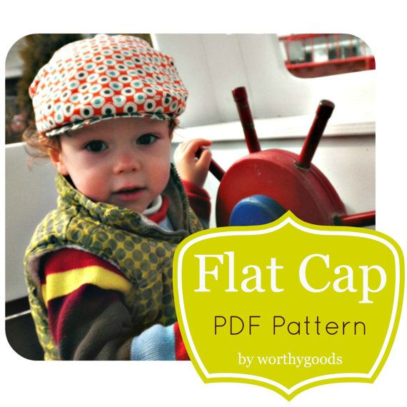 6ee8d97e99e72 Newsboy Hat PDF Pattern - Boys Baby Toddler Flat Cap in 4 Sizes from 6  Months to Pre-Teen - Childrens Hat Sewing Pattern