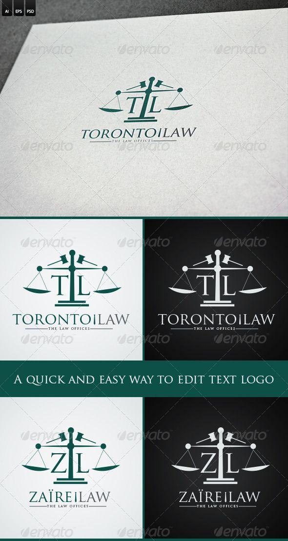 Law Firm Letters Logo u2014 Photoshop PSD