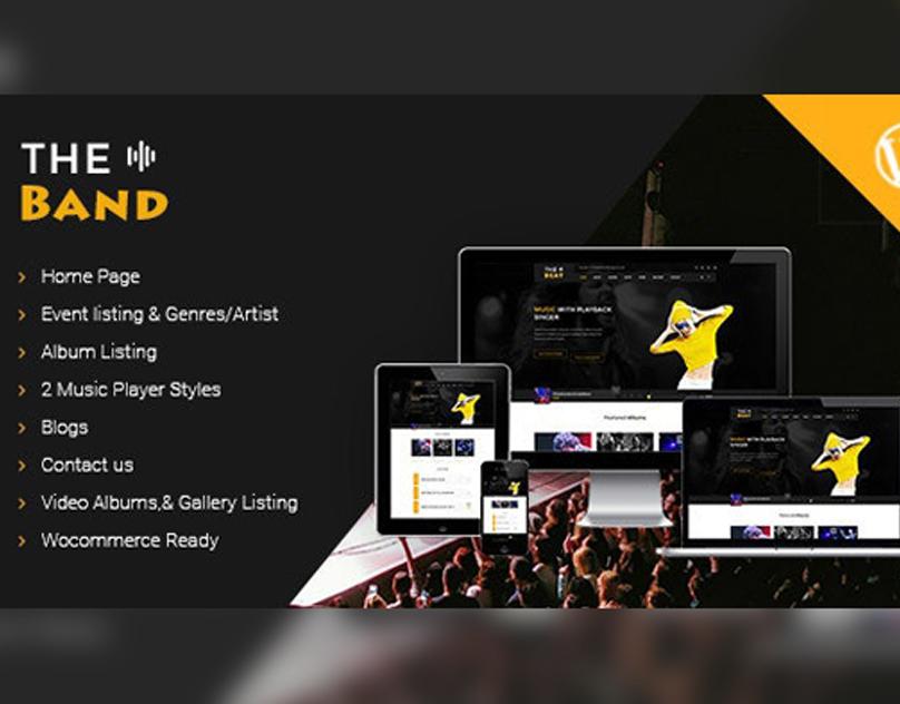 TheBand Music WordPress Theme theband band albums