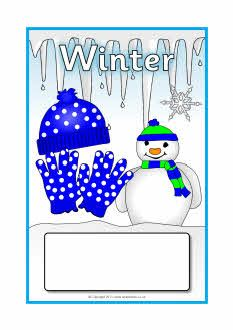 Winter editable topic book covers (SB6877) - SparkleBox