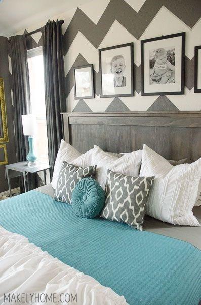 chambre kaki et turquoise bleu clair rose pinterest turquoise chambres et deco chambre. Black Bedroom Furniture Sets. Home Design Ideas